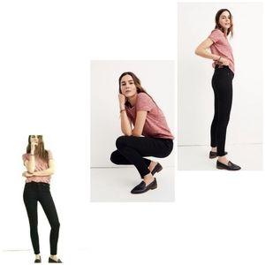 """NWT Madewell 8"""" Skinny Black Stretch Jeans Size 25"""